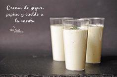 Yogur, pepino...