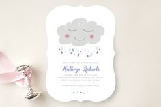 Petit Nuage Baby Shower Invitations by Bonjour Paper at minted.com