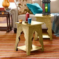 Marrakesh Accent Table - Brass
