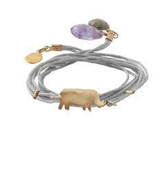 купите браслет-фенечку с носорогом от Apodemia