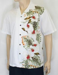 a80fb0c4 Men's White Orchids Shirt : Shaka Time Hawaii Clothing Store #menshirt