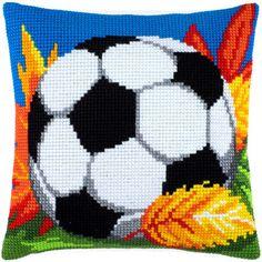 Футбольный мяч Z-36 Hama Beads Patterns, Beading Patterns, Cross Stitch Designs, Cross Stitch Patterns, Cross Stitch Cushion, C2c, Christmas Cross, Easter Crafts, Cross Stitching