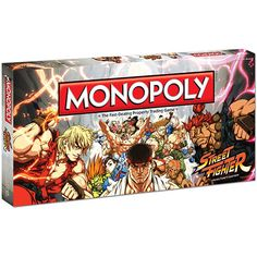 Street Fighter Monopoly: Enter the world of one of the best selling video game franchises of all time in this special Street Fighter Collector's Edition of Monopoly. Buy, sell and trade locations associated with the most iconic characters over 25 years such as Makoto in the Karate Dojo, Ryu on the Rooftops of Japan and Major Bison in the Shadaloo Headquarters.  http://www.calendars.com/Video-Games/Street-Fighter-Monopoly/prod201300007668/?categoryId=cat130002=cat130002