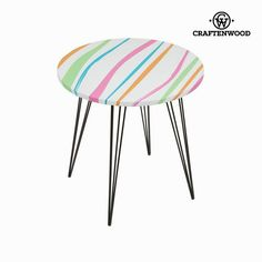 Tavolo rotondo a righe a colori by Craftenwood Craftenwood 26,45 € https://shoppaclic.com/tavoli-e-sedie/8135-tavolo-rotondo-a-righe-a-colori-by-craftenwood-7569000730513.html