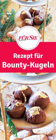 Rezept für Bounty-Kugeln - selbst gebackene Plätzchen zu Weihnachten