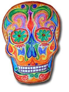 Decorated Halloween Skulls