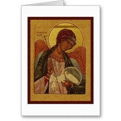 Orthodox Guardian Angel Cards available at www.zazzle.com/stevebrownleeart