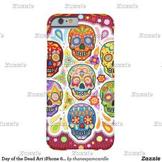 Shop Day of the Dead Art iPhone 6 case created by thaneeyamcardle. Mexico Day Of The Dead, Day Of The Dead Art, Funky Design, Shopping Day, Iphone 6 Cases, Sugar Skull, Psychedelic, Artwork, Day Of The Dead