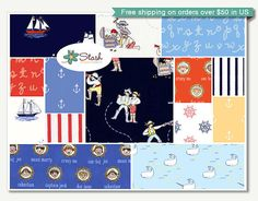 Fabric - Out to Sea Collection, Sarah Jane