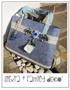 Borsa porta pc in feltro  http://silviaefamilydeco.blogspot.it/