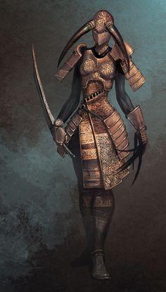 High fantasy digital painting by Eric Belisle High Fantasy, Medieval Fantasy, Fantasy Girl, Character Concept, Character Art, Concept Art, Character Design, Golden Warriors, Ninja