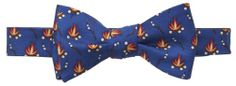 Campfire Bow Tie in Navy Blue- Natty Beau Southern Proper