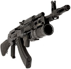 AK with a Gernade launcher. May need on of these