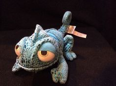 Disney Blue Pascal Chameleon Plush Tangled Soft Toy Stuffed Store #Disney