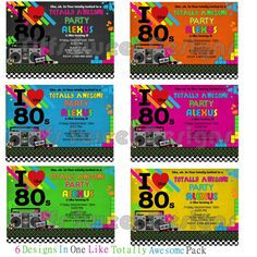 Back To The 80 S 2 Personalized Party Invitation Personalized