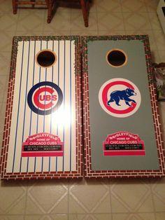 Chicago Cubs Bean Bag Boards Custom Cornhole by BatzBoardsandBags, $205.00