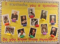 I Mustache You A Question Music Bulletin Board Idea