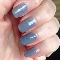 Here is one of our recent colors, Theresa wears it well! Luminous Moon  $8  www.myworldsparkles.com #LuminousMoon #myworldsprkleslacquers  #indiepolish #handmadepolish #5free