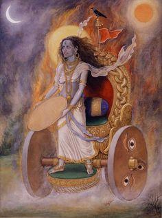 Dhumavati Mahavidya by Udaya Charan Shrestha ( of all the scary deities dhumavati scares me most of all)