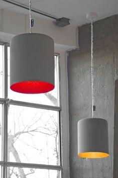 Resin pendant lamp BIN CEMENTO Matt Collection by In-es.artdesign