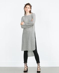 Image 3 of LONG SWEATER WITH SIDE SLITS from Zara