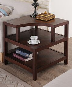 Walnut Modern End Table
