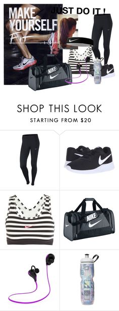 """""""Simple workout"""" by angelikadodekova on Polyvore featuring NIKE"""