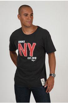 Camiseta Malha Aplicação Preto EVERLAST no Brandsclub