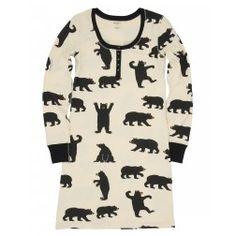 Black Bears Women's Night Dress