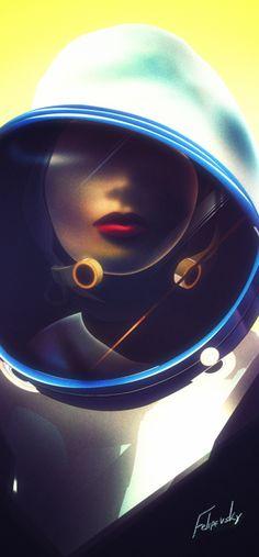 felipevsky:  NeoDeco Cosmonaut, getting better at Illustrator!