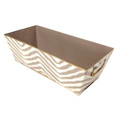 Hand-painted catch all basket with chevron motif and contrasting trim. Crafted of recycled metal.Product: Catch allConstru...