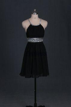 Neueste schwarze chiffon Prom Kleider heiß kurze von Evdress