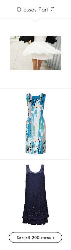 """""""Dresses Part 7"""" by allison-epps ❤ liked on Polyvore featuring dresses, blue, multi-color dress, multi colored dress, multi colored sequin dress, blue zipper dress, oscar de la renta, couture dresses, couture cocktail dresses and beaded cocktail dresses"""