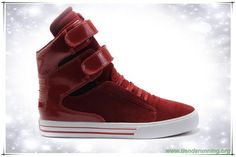 cd0b7a273ba1 zapatillas de running Rojo gimnasio Suede Leather Supra TK Society High  Tops Hombre-Mujeres
