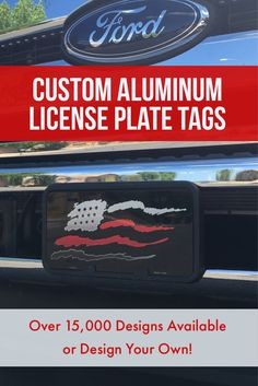 """Thin Red Line Firefighter License Plates 6"""" x 12"""" automotive high gloss metal license plate. Made of the highest quality aluminum for a weather resistant finish. It is lightweight and durable. Pre-drilled holes for quick and easy mounting on any vehicle, or add a ribbon, wire or string to instantly turn this license plate into a sign and display it on a wall or door. Individually shrink-wrapped and proudly made in the USA"""