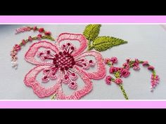 Brazilian Embroidery Fantasy Fern flower ✔️ I have a lot of videos Embroidery for beginners How to embroider : Brazilian embroidery Floral Hand em. Brazilian Embroidery Stitches, Basic Embroidery Stitches, Creative Embroidery, Embroidery Supplies, Embroidery Applique, Cross Stitch Embroidery, Embroidery Needles, Hand Embroidery Patterns Flowers, Hand Embroidery Designs
