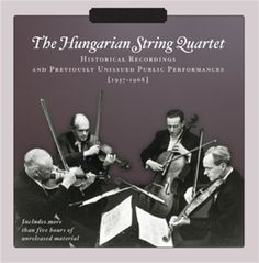 Szekely/Hungarian St. Quartet - Previously Unissued Recordings