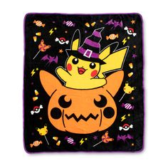 Pumpkin Pikachu Halloween Fleece Throw | Pokémon Center Original Halloween Rocks, Halloween Season, Holidays Halloween, Pokemon Halloween, Birthday List, Fleece Throw, Crafty Craft, Pixel Art, Nerd