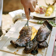 Chef's favorite camping food: Gaucho Steak with Four-Herb Chimichurri