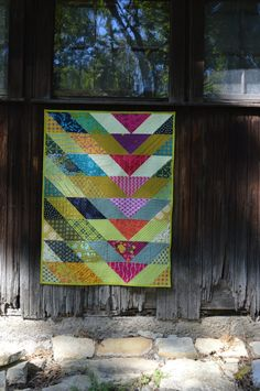 Quilting With Style: Broken V Quilt Broken V quilt by Sharon McConnell. pattern by Christa Watson, fabrics by Alison Glass and Tula PinkBroken V quilt by Sharon McConnell. pattern by Christa Watson, fabrics by Alison Glass and Tula Pink Mini Quilts, Amische Quilts, Strip Quilts, Girls Quilts, Barn Quilts, Small Quilts, Quilting Projects, Quilting Designs, Quilting Ideas