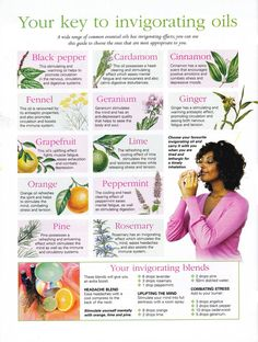 Invigorating Essential Oils to stimulate and awaken your body and mind!