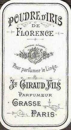 Etiqueta postal francesa blanco y negro Giraud Fils.