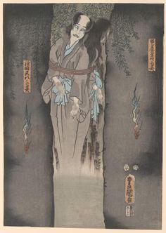 The ghost of Kamata Matahachi, 1855 by Utagawa Kunisada