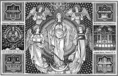 Immaculate_Conception_001.jpg (1908×1242) Catholic Line Art, Black and White