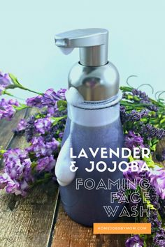 Learn how to prime your face for Differin®️ Gel with a DIY Lavender and Jojoba Foaming Face Wash https://goo.gl/YTuzHZ #BeforeDifferin #ad