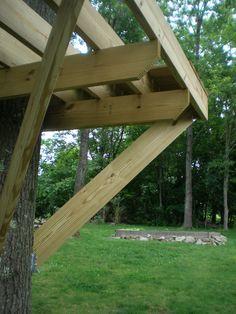tree fort platform rim joists