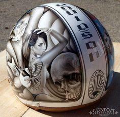 Custom Aérographie Pinup Helmet1