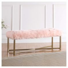 Shop a great selection of Farley Fabric Upholstered Bench. Find new offer and Similar products for Farley Fabric Upholstered Bench. My New Room, My Room, Gold Rooms, Pink Faux Fur, Pink Room, Upholstered Bench, Living Room Sofa, Decoration, Upholstery
