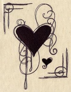 Heart of Darkness | Urban Threads: Unique and Awesome Embroidery Designs