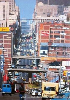 Anderson Street looking east Johannesburg Skyline, African Image, Third World Countries, Pretoria, Good Ole, Back In Time, Its A Wonderful Life, African History, Live